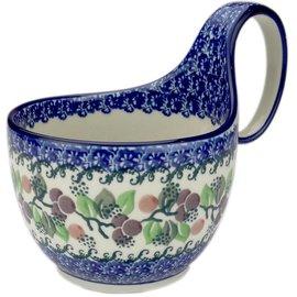 Ceramika Artystyczna Soup Cup Cranberry Vine