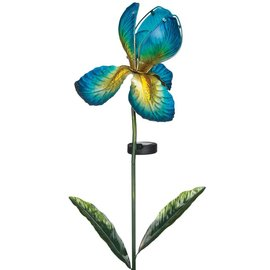 Regal Art & Gift Solar Iris Stake Blue