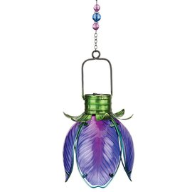 Regal Art & Gift Purple Iris Solar Flower Lantern