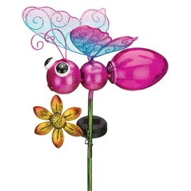 Regal Art & Gift Pink Butterfly Solar Stake