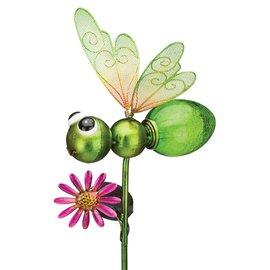 Regal Art & Gift Solar Dragonfly Stake Green