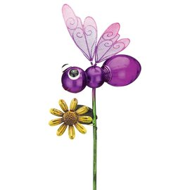 Regal Art & Gift Purple Dragonfly Solar Stake