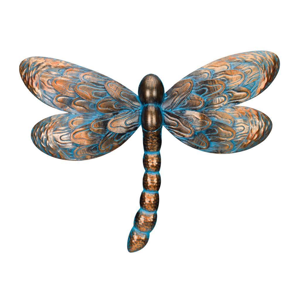 Outdoor Wall Decor Dragonfly : Patina dragonfly wall decor the bramble patch