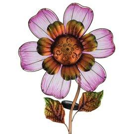 Regal Art & Gift SOLAR GIANT FLOWER STAKE - PINK