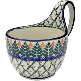 Ceramika Artystyczna Soup Cup Autumn Spruce