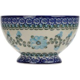 Ceramika Artystyczna Pedestal Bowl Size 1 Rose Turquoise