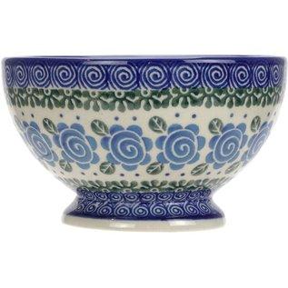 Ceramika Artystyczna Pedestal Bowl Size 1 Lady Godiva Blue