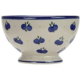 Ceramika Artystyczna Pedestal Bowl Size 1 Double Blueberry