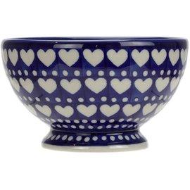 Ceramika Artystyczna Pedestal Bowl Size 1 Hearts Aplenty