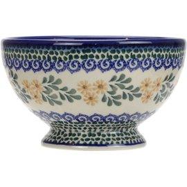 Ceramika Artystyczna Pedestal Bowl Size 1 Triple Daisy