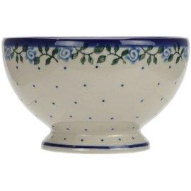 Ceramika Artystyczna Pedestal Bowl Size 1 Antique Rose