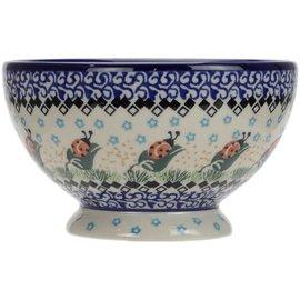Ceramika Artystyczna Pedestal Bowl Size 1 Ladybug WR