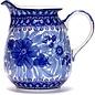 Ceramika Artystyczna Farmhouse Pitcher Size 2 Blue on Blue Signature