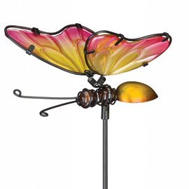 Regal Art & Gift Plant Pick Pink & Yellow Butterfly
