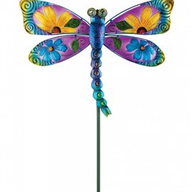 Regal Art & Gift Floral Stake Blue Dragonfly