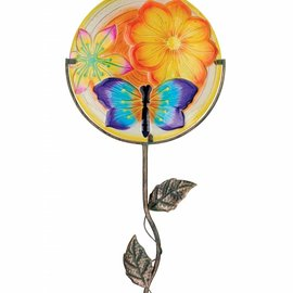 Regal Art & Gift 12 Glow Glass Disk with Dragonfly