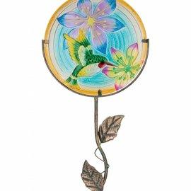 Regal Art & Gift 12 Glow Glass Disk with Hummingbird