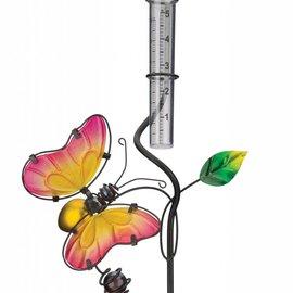 Regal Art & Gift Rain Gauge with Butterfly