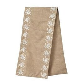 """13 x 60"""" Linen Embroidered Table Runner"""