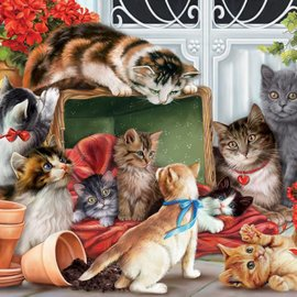 Puzzle Garden Cats