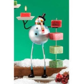 Decobreeze Snowman Candle on Rope Holder