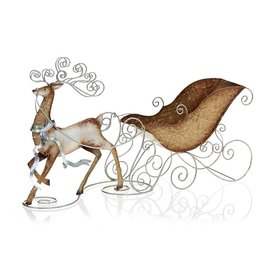 Decobreeze Reindeer & Sleigh Candle Holder