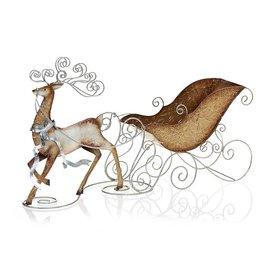 Decobreeze Reindeer & Sleigh Candle Holder