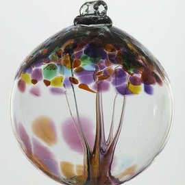 "Kitras Art Glass Handmade Tree 2"" Gratitude"