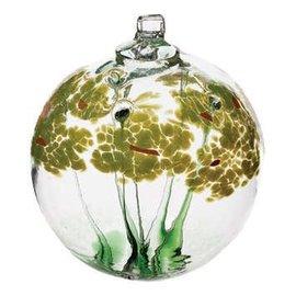 "Kitras Art Glass Blossom Ball 2"" Good Luck"