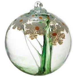 "Kitras Art Glass Blossom Ball 6"" Friendship"