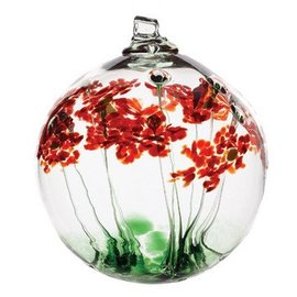 "Kitras Art Glass Blossom Ball 6"" Greetings"