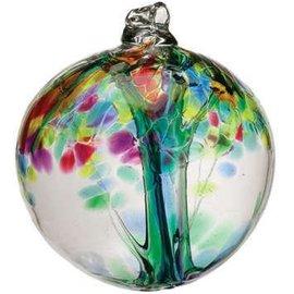 "Kitras Art Glass Handmade Tree 2"" Family"