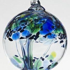 "Kitras Art Glass Handmade Tree 6"" Kindness"