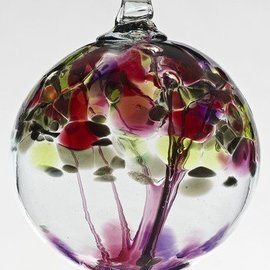 "Kitras Art Glass Handmade Tree 6"" Wishes"