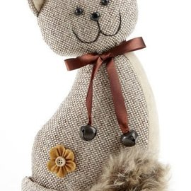Delton Products Corporation Brown Tweed Cat Door Stop