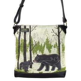 Chala Safari Canvas Crossbody Bear