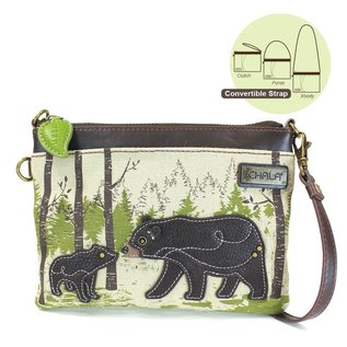 Chala Safari Canvas Mini Crossbody Bear