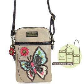 Chala Cell Phone Crossbody Butterfly on Beige