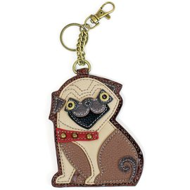 Chala Coin Purse Key Fob Pug