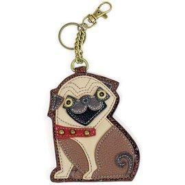 Chala Coin Purse Key Fob Pug