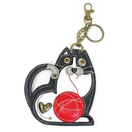 Chala Coin Purse Key Fob Fat Cat