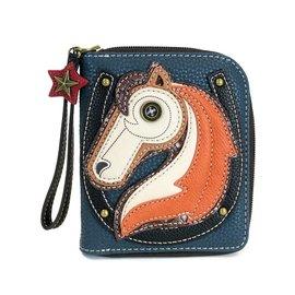 Chala Zip Around Wallet Horse Navy