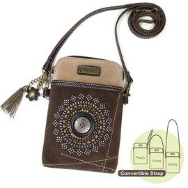 Chala Cell Phone Crossbody Starburst Dark Brown