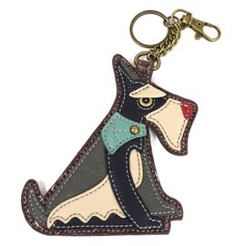 Chala Coin Purse Key Fob Schnauzer