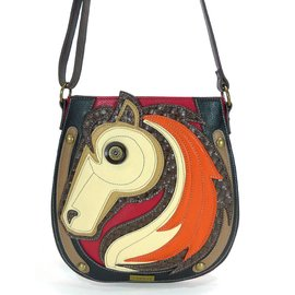 Chala Crossbody Horse Red
