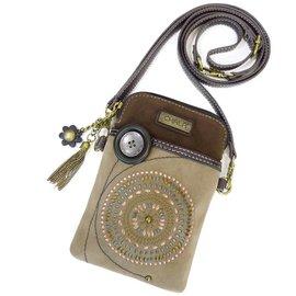 Chala Cell Phone Crossbody Starburst Brown
