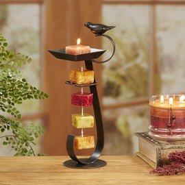 Decobreeze Candle on Rope Holder Bird Bath Bronze