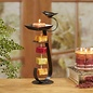 Decobreeze Candle on Rope Holder Bird Bath Bronze