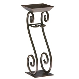 Decobreeze Candle on Rope Holder Scrolls Bronze