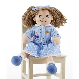 Delton Products Corporation Softie Apple Dumpling Doll Blue Jacket